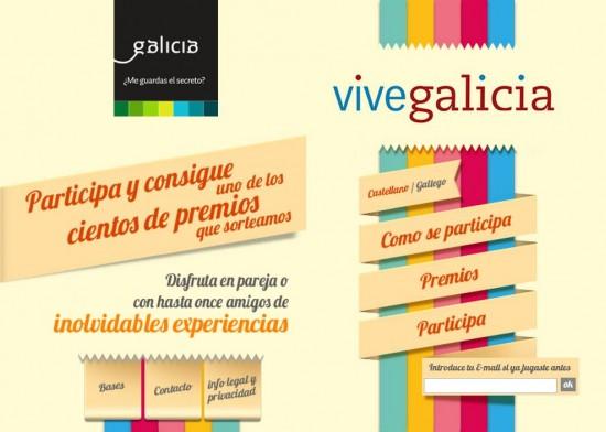 Promoción Vive Galicia de Turgalicia con premios de paquetes turísticos