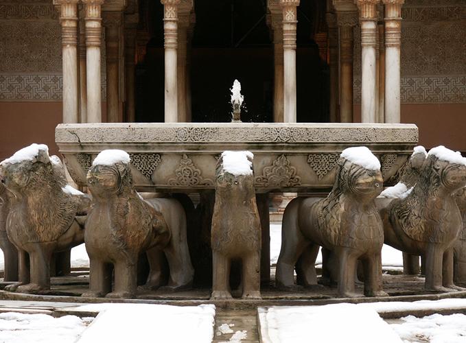 Patio de los Leones en Granada Alhambra