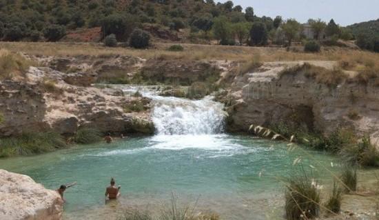 Zona de baño en el Parque Natural de las Lagunas de Ruidera