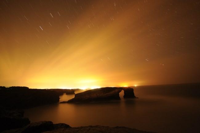 Playa Catedrales Noche