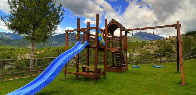 casa rural parque infantil Huesca