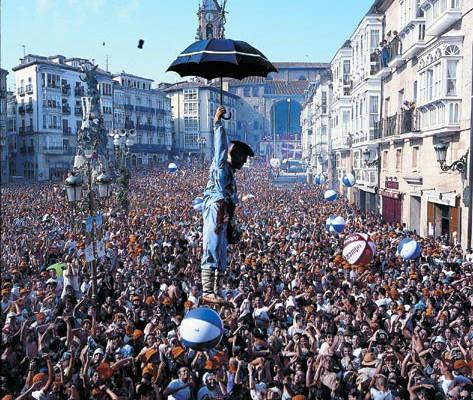 Celedón de las Fiestas de la Virgen Blanca en Vitoria-Gasteiz, en la provincia de Álava