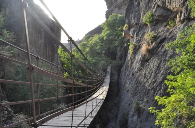 Puente colgante de Los Cahorros Monachil