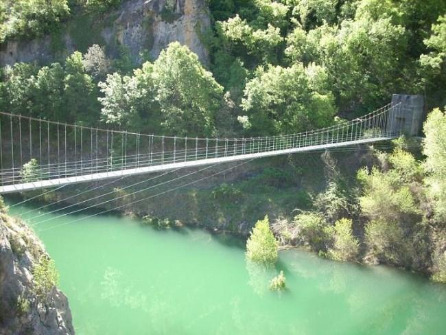 Puente de la Ruta del Congost de Mont Rebei
