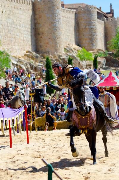 exhibición torneo medieval