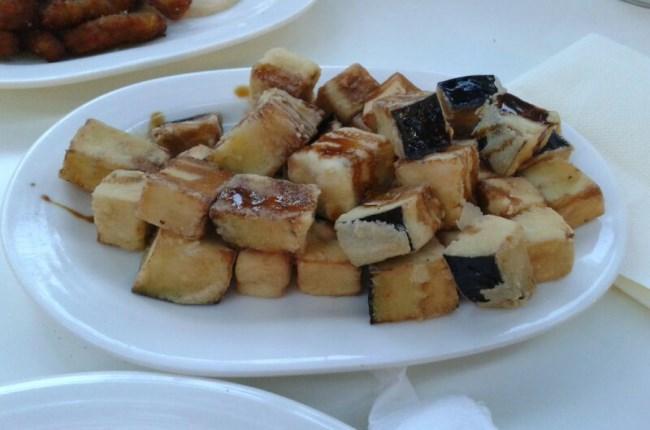 Berenjenas fritas con miel Córdoba