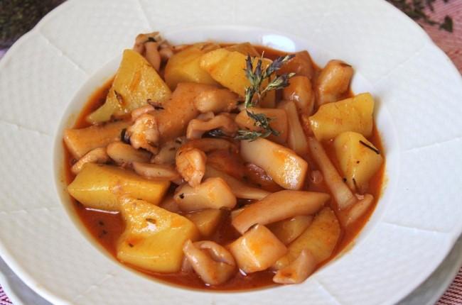 Patatas con Choco Huelva