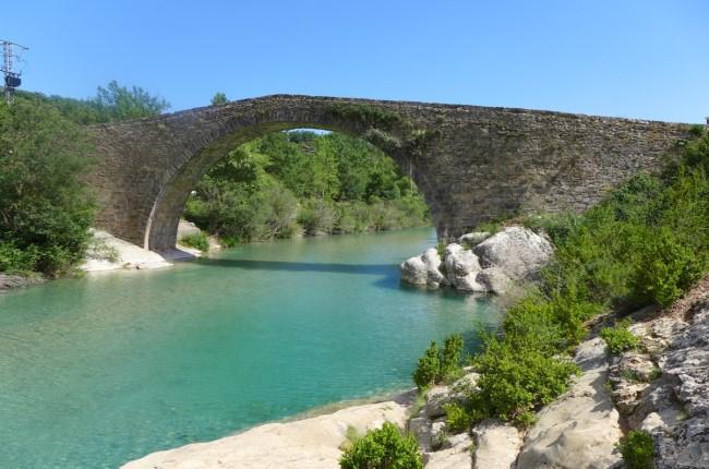 badina puente de Pedruel Huesca