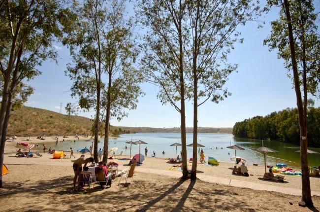 playa de la isla del zújar Badajoz