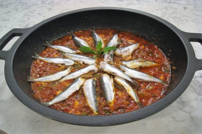 Moraga de sardinas
