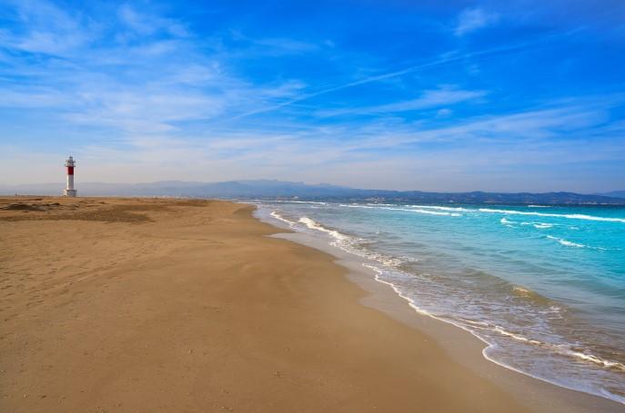 Playa Punta del Fangar deltebre Tarragona